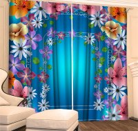 Цветочная арка голубая
